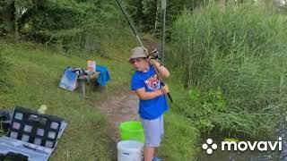 Поехали с Даней на рыбалку на озеро