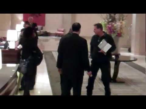 Coroner arrives at The Beverly Hilton hotel to examine Whitney Houston body