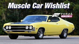 Forza Horizon 4: Car WishList #1 - Muscle and Pony Cars