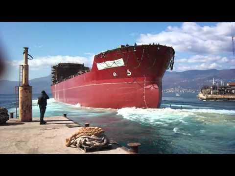 Asphalt Tanker Ship Launch 3 Maj 13 03 2012ship launch)