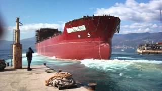 Asphalt Tanker Ship Launch 3 Maj 13 03 2012ship launch)