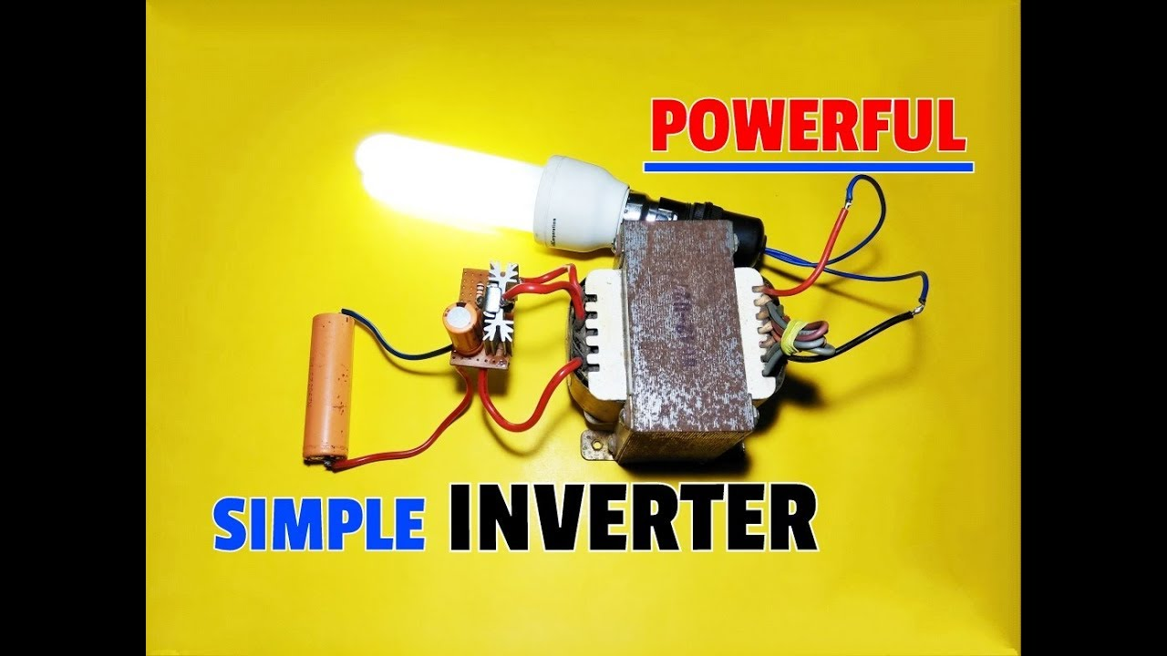 How To Make Simple Inverter Circuit 37v 12v Dc 220v Ac Using 12 Volt For Soldering Iron Portable Solar Mosfetmosfet