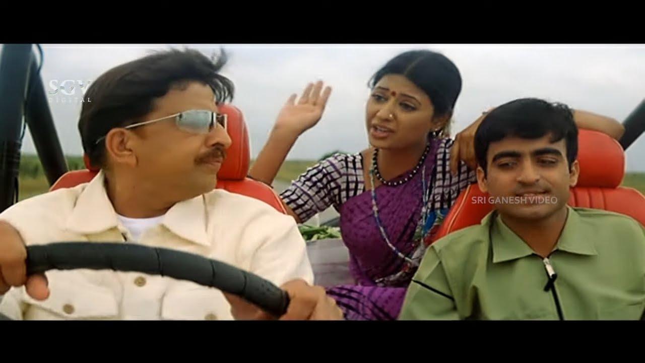 VIshnuvardhan Gives Lift To Lady | Comedy Scene | Master Anand | Jyestha Kannada Movie