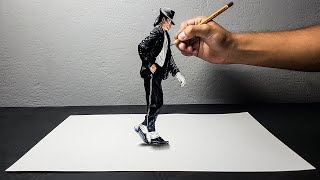 Disegno 3D di Michael Jackson | Moonwalk | - ART-CYO