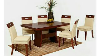 Wood dining table Ideas   Dinner table for home   Home dinner kitchen furniture catalogue