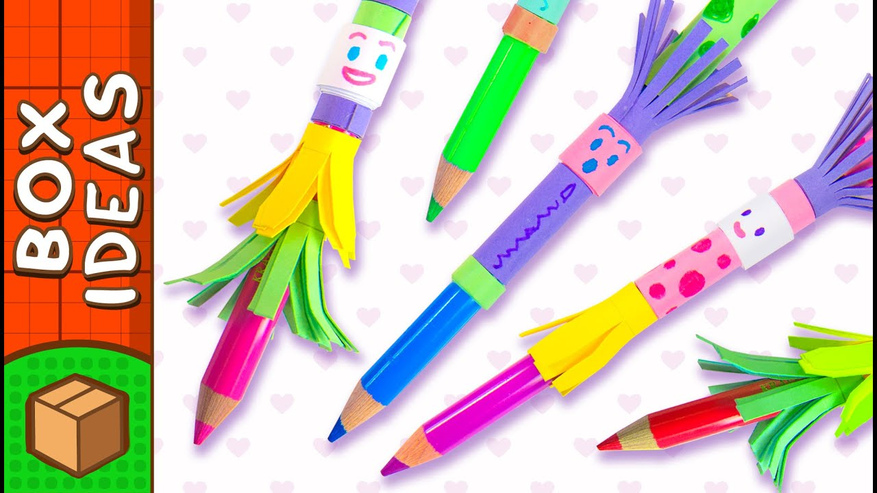 DIY Pencil Topper People | Craft Ideas for Kids on Box ... - photo#9