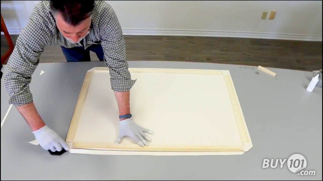 how to diy canvas stretch frame kits youtube. Black Bedroom Furniture Sets. Home Design Ideas