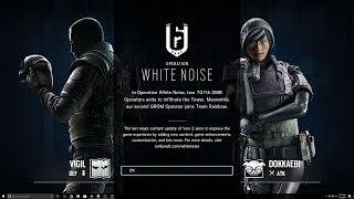 Rainbow Six Siege White Noise First Start Up Screen Dokkaebi Vigil Zofia Season Pass Skins