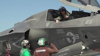 F35 Lightning jets on HMS Queen Elizabeth | Royal Navy