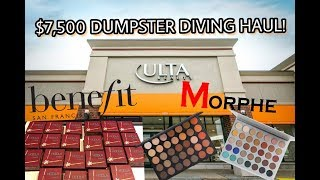 HUGE $7,500 ULTA DUMPSTER DIVING HAUL! BRAND NEW BENEFIT MAKEUP! *shocking*