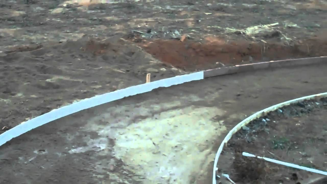 Pouring a concrete walkway youtube for Removing concrete walkway