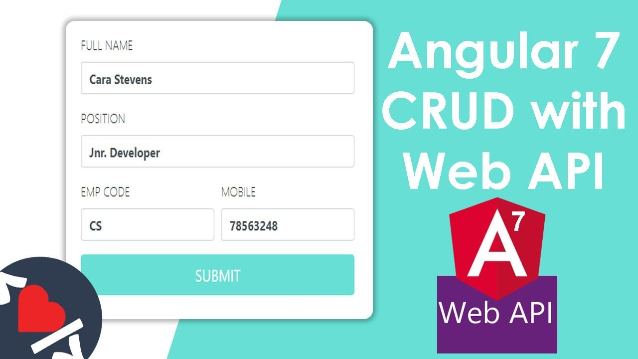Angular 7 CRUD with Web API