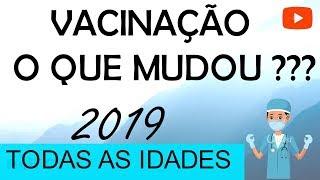 Calendário de Vacinação 2019 ATUALIZADO!!! (PNI)