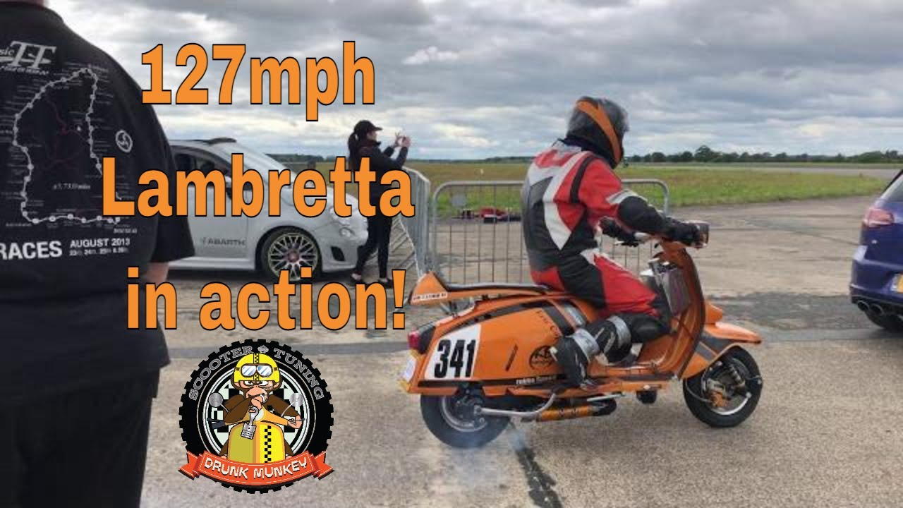 127mph Lambretta in action: Full scooter spec on video - Eric Cope @ Elvington Straighliners Sprint