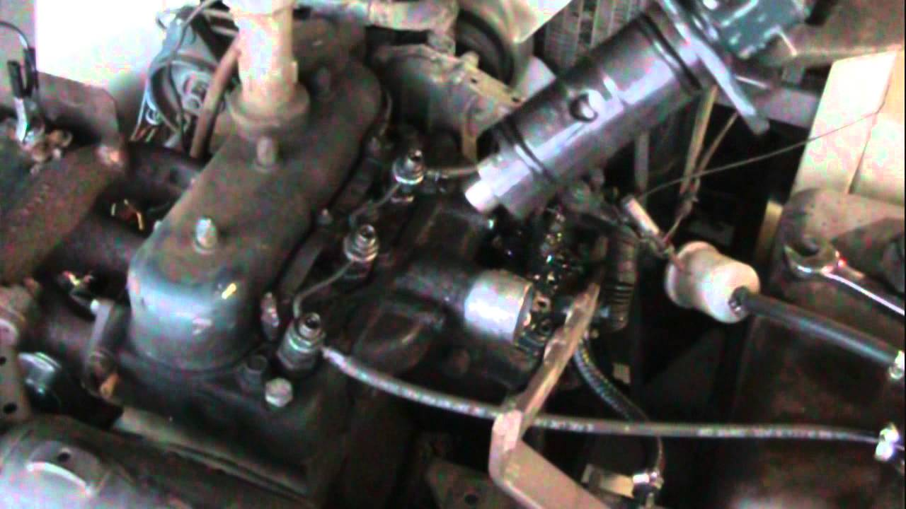diesel injector pump leak repair kubota grasshopper wmv