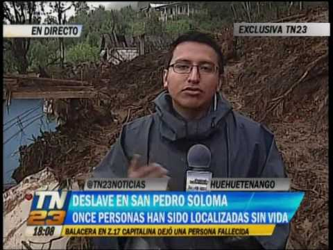 Tragedia en San Pedro Soloma, Huehuetenango, deja once muertos
