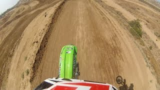 KX85 MASSIVE LEAP 140 FOOT TRIPLE JUMP MUST WATCH!!