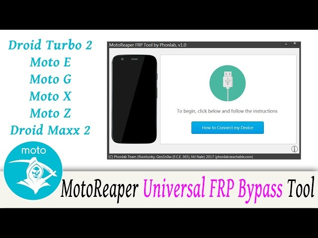 Bypass Factory Reset Protection on most Motorola phones with