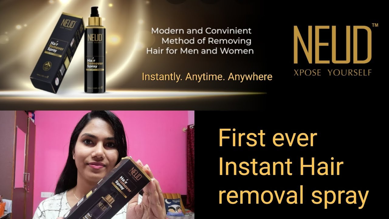 Instant Hair Removal Spray From Neud Full Demo And Review Rosie