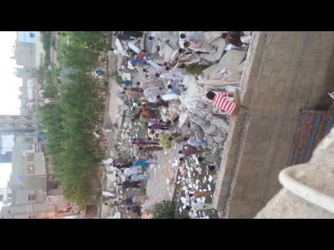 Karachi Baldia town mqm office destroyed.