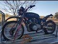 Suzuki GS550 Plus Honda XR Suspension Frankenstein Motorbike