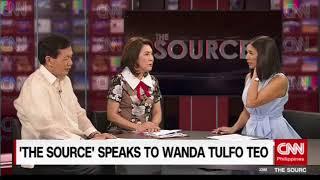 'The Source' speaks to Former Tourism Secretary Wanda Tulfo Teo