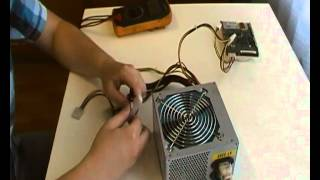 как включить блок питания без компьютера / How to turn on power unit without a computer