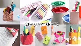 10 Back To School Stationery Crafts | DIY Back to School