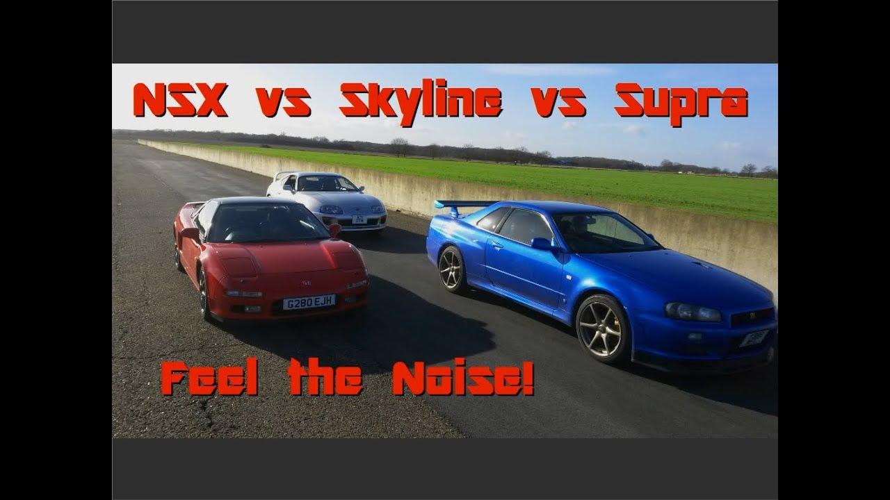 Honda Nsx Vs Nissan Skyline R34 Vs Toyota Supra Mk4