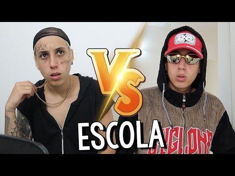 TRAPPER'S VS MC'S NA ESCOLA