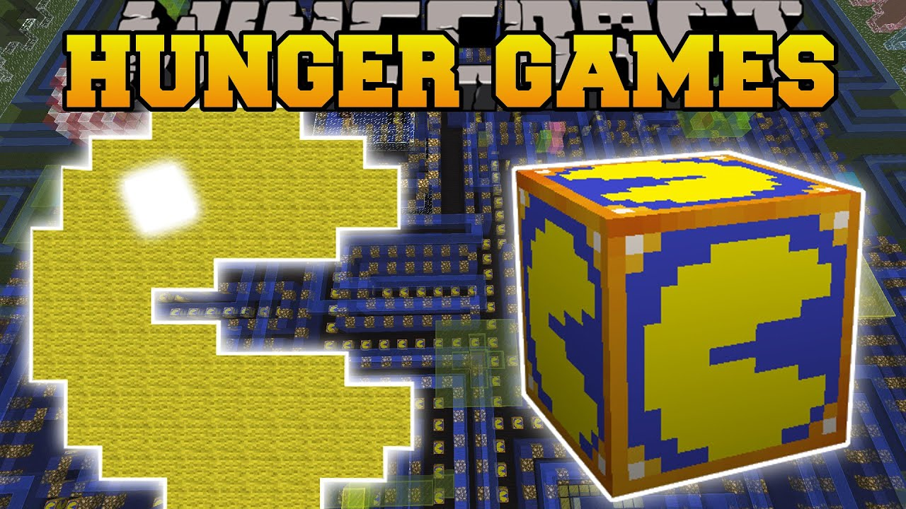 Minecraft PACMAN HUNGER GAMES Lucky Block Mod Modded Mini Game YouTube