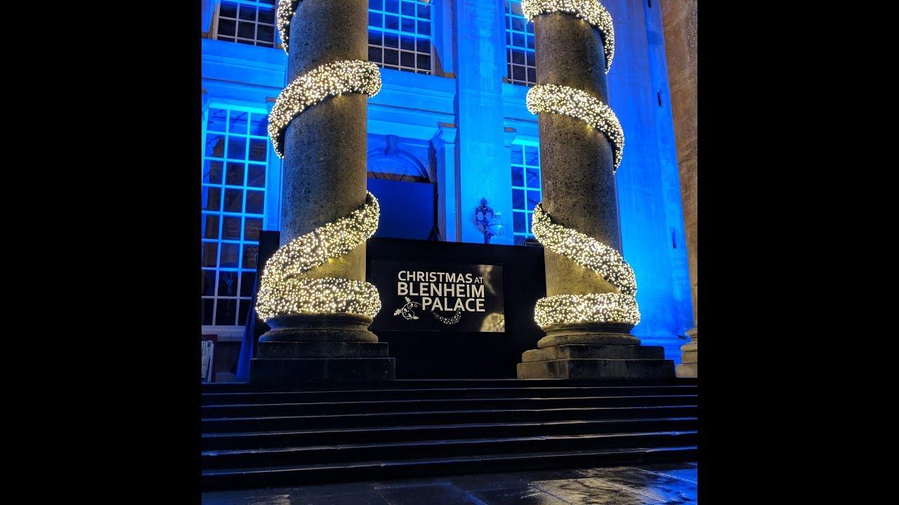 Blenheim Palace Christmas Lights 2018 - YouTube