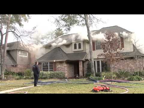 Spring Texas Residential House Fire  Klein Fire Department