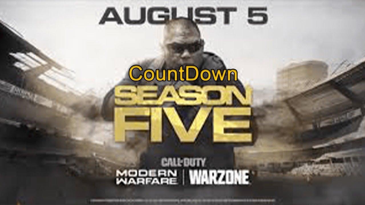 Call Of Duty Modern Warfare Season 5 Countdown Youtube