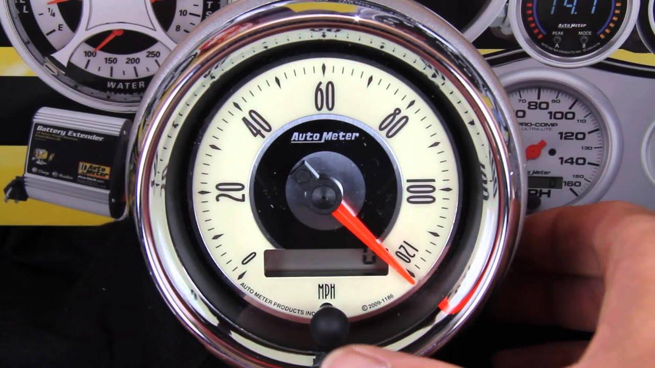 Calibrating Speed On Your Auto Meter Electric Speedometer Gauge ...
