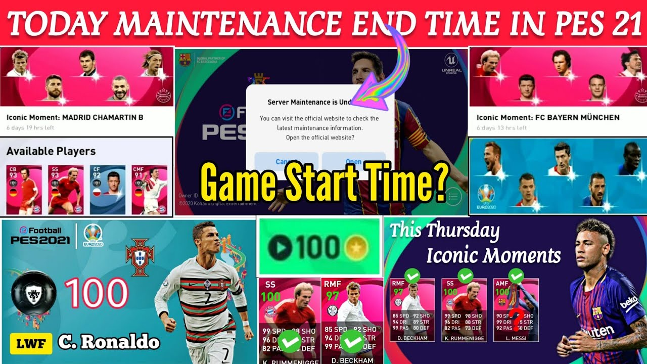 Today Maintenance End Time Pes 2021 Mobile   Thursday 17 June Maintenance End Time Pes 21 Mobile