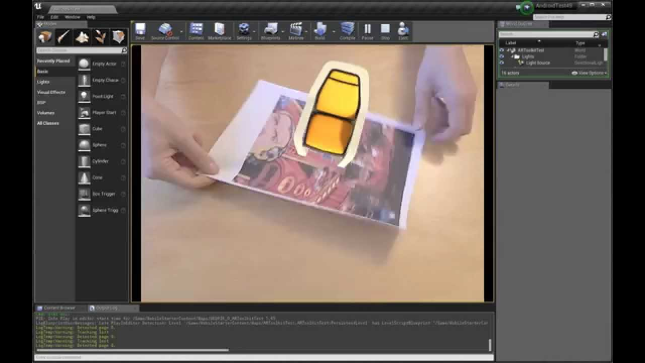 Unreal Engine 4 Augmented Reality Plugin: Unreal4AR