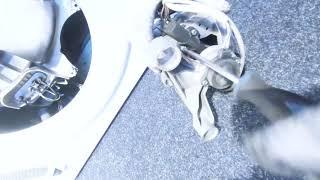 Замена щеток в двигателе. Не крутится барабан - cтиральная машина Indesit.