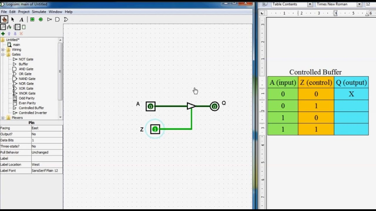 4 Basic Logic Gates Tri State Buffer Controlled Youtube Circuit Diagram Not Gate