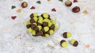 How to Make Grape Acorns - Fun Food Tutorial for Kids