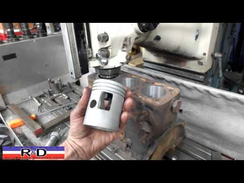 3-Cylinder DKW Auto Union Block Boring - Two stroke