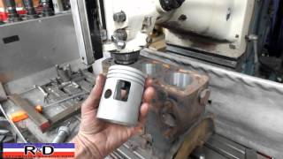 3-Cylinder DKW Auto Union Block Boring - Two stroke