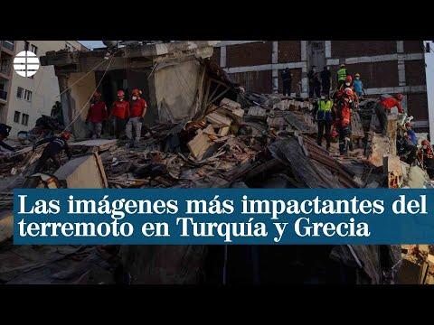 Las imágenes más impactantes del terremoto en Turquía y Grecia