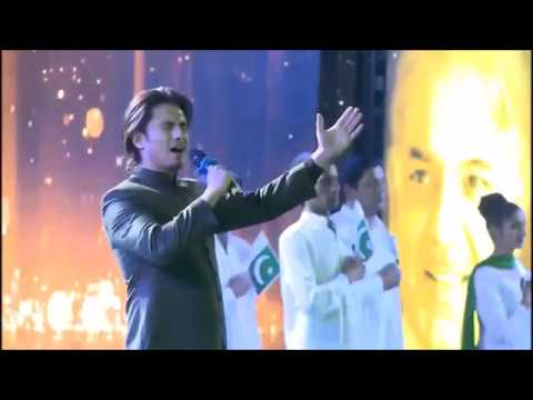 Atif Aslam & Ali Zafar sing the National Anthem of Pakistan!