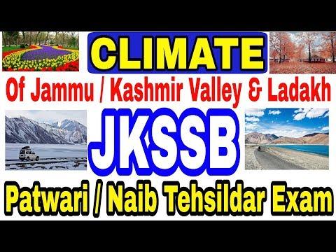 Climate of Jammu, Kashmir and Ladakh Division   JKSSB   Patwari   Naib tehsildar exam