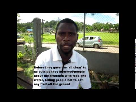 Iven Meltely from Akhamb shares his experience of TC Pam, Vanuatu
