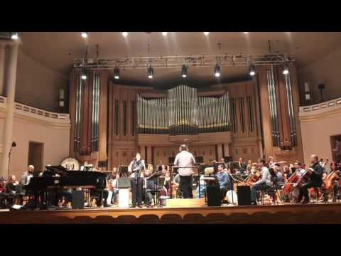 Abeer Nehme and The National Orchestra of Belgium in rehearsal