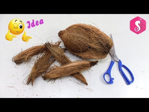 DIY Coconut Fiber Craft Idea | Best out of Waste Coconut Fibers | Reuse waste material craft