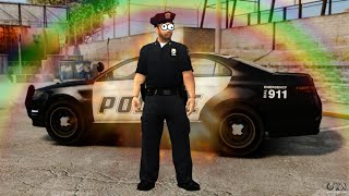 נכנס לתפקיד שוטר GTA V [שלמה השוטר]