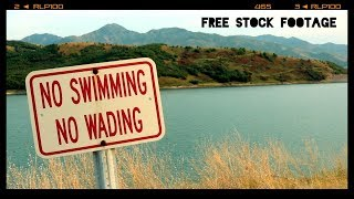 'NO SWIMMING SIGN' Free Stock Footage